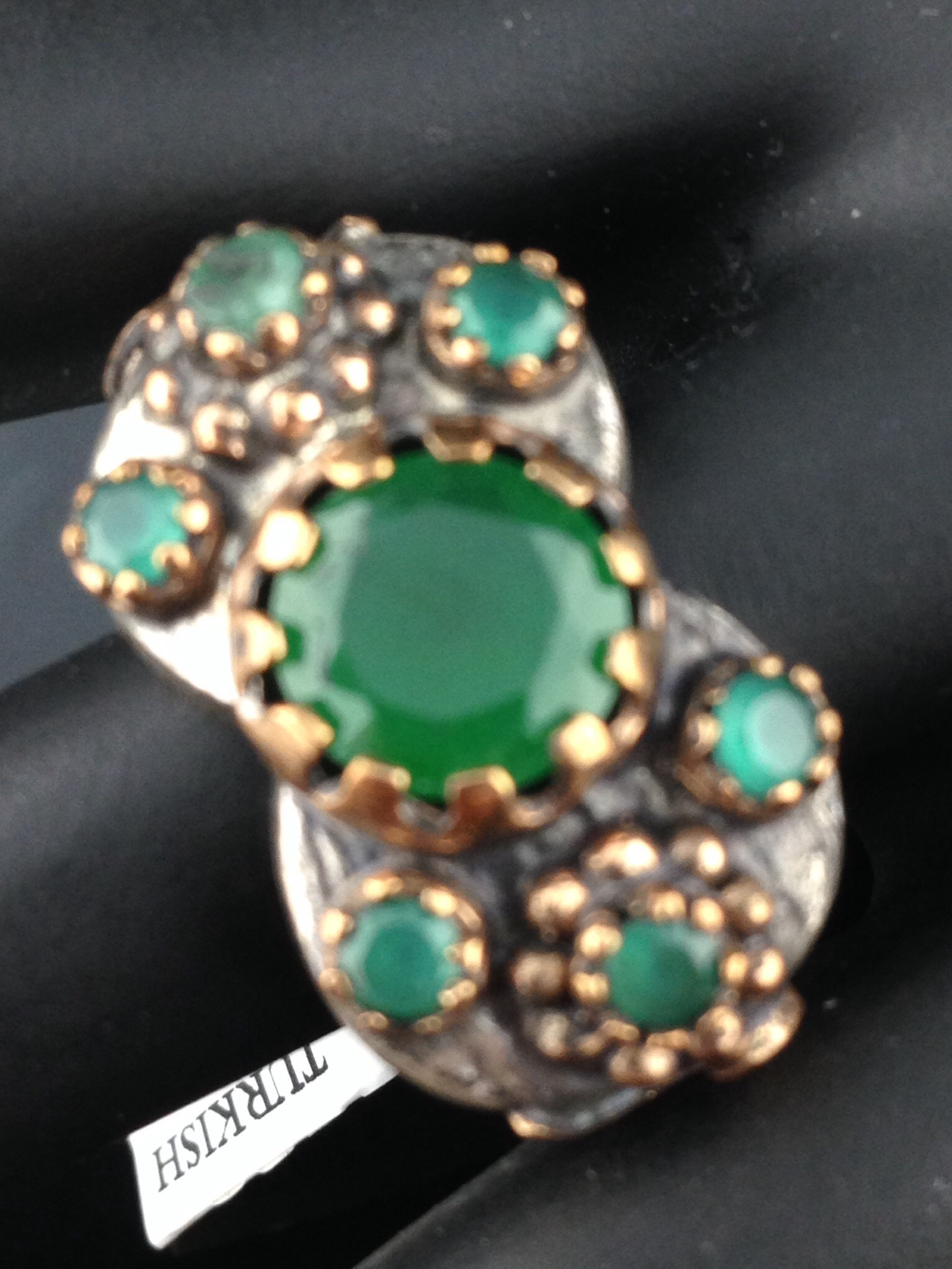 Turkish CZ And Emerald Ring