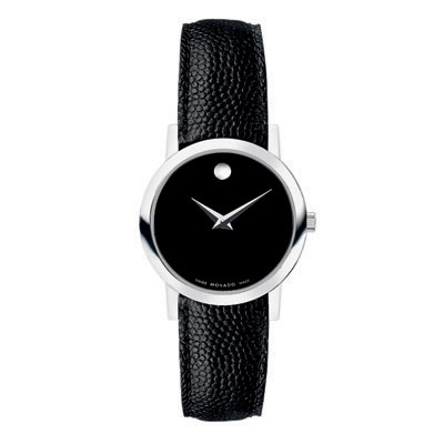 Ladies\' Movado Stainless Steel Classic Museum® Watch with Black