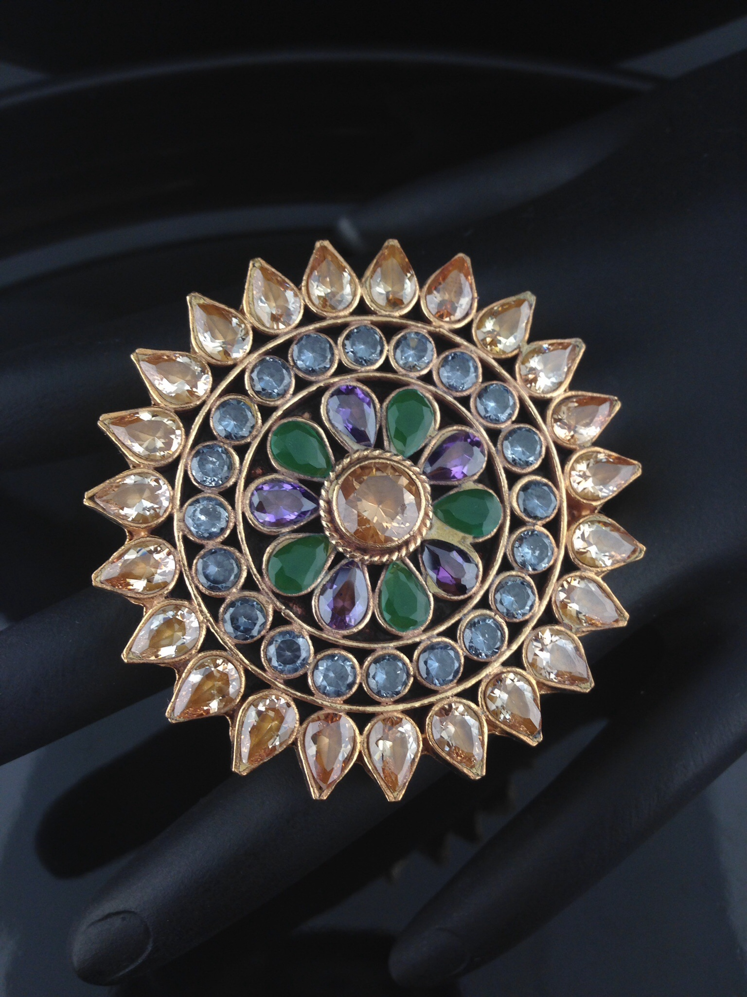 Kundan Rings with Multicolored Stones