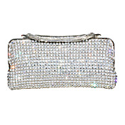 Amazing Metal With Rhinestone Clutches/Evening Handbags