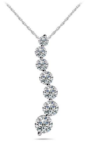 Classic Diamond Journey Necklace