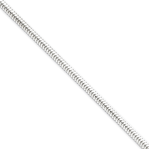 Sterling Silver 3.25mm Diamond-Cut Snake Chain