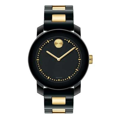 Ladies\' Movado Bold® Black Ceramic Watch (3600172)