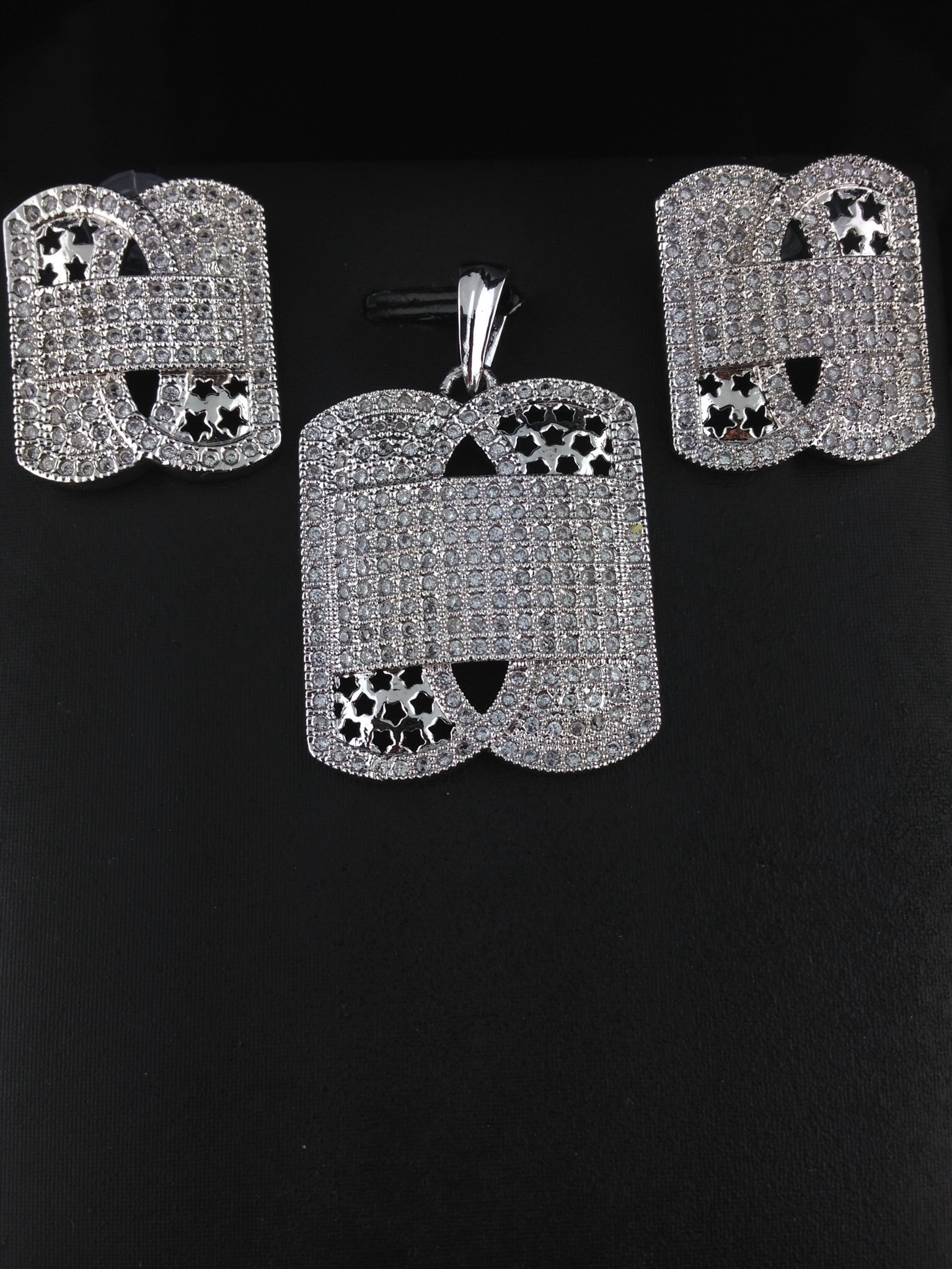 American Diamond CZ Pendant Set