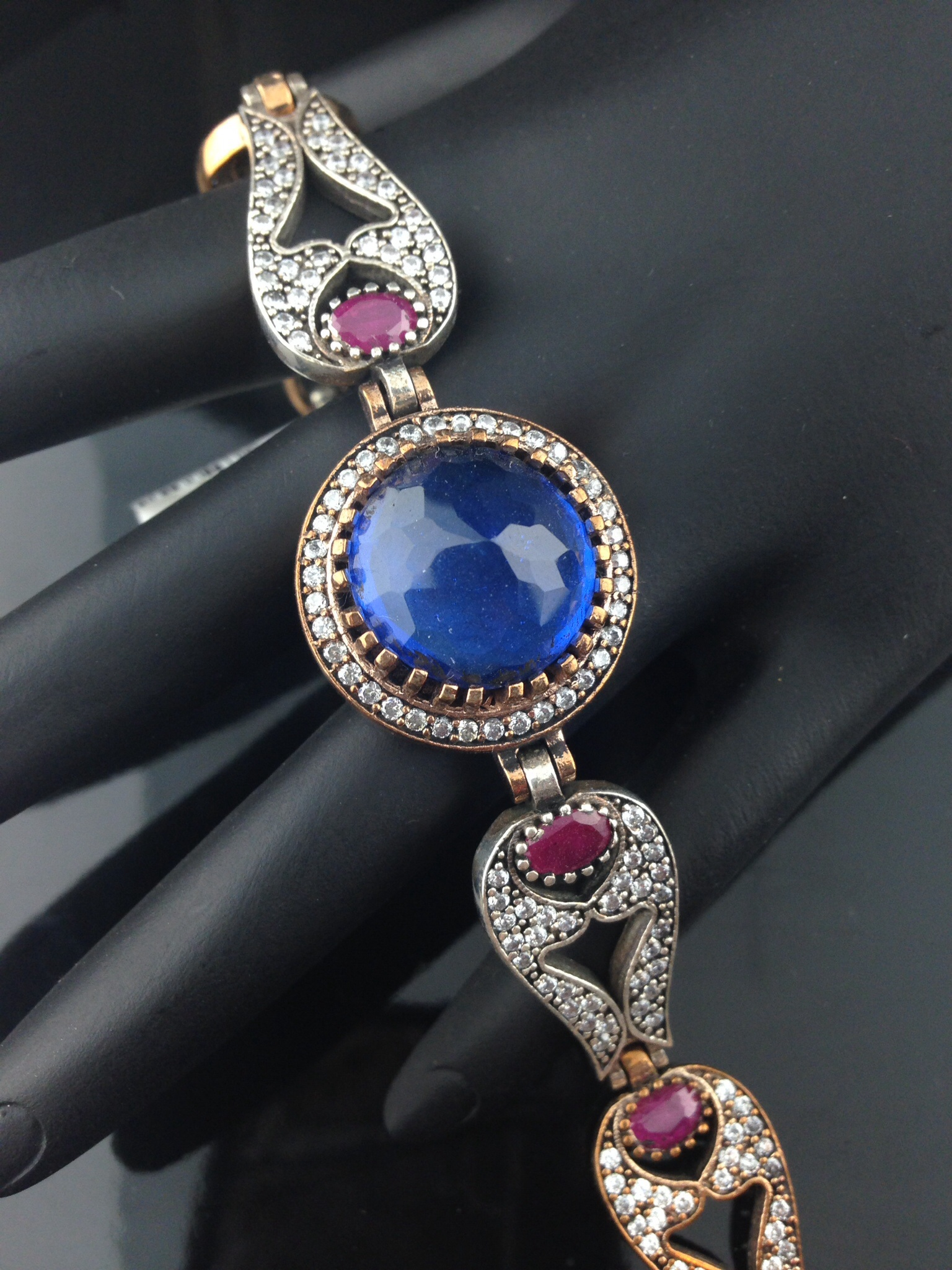 Turkish Cubic Zircon And Blue Bracelet