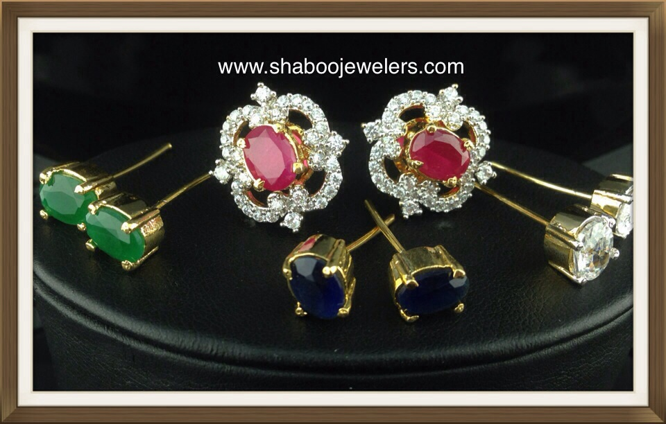 CZ Tops With Changeable Stones