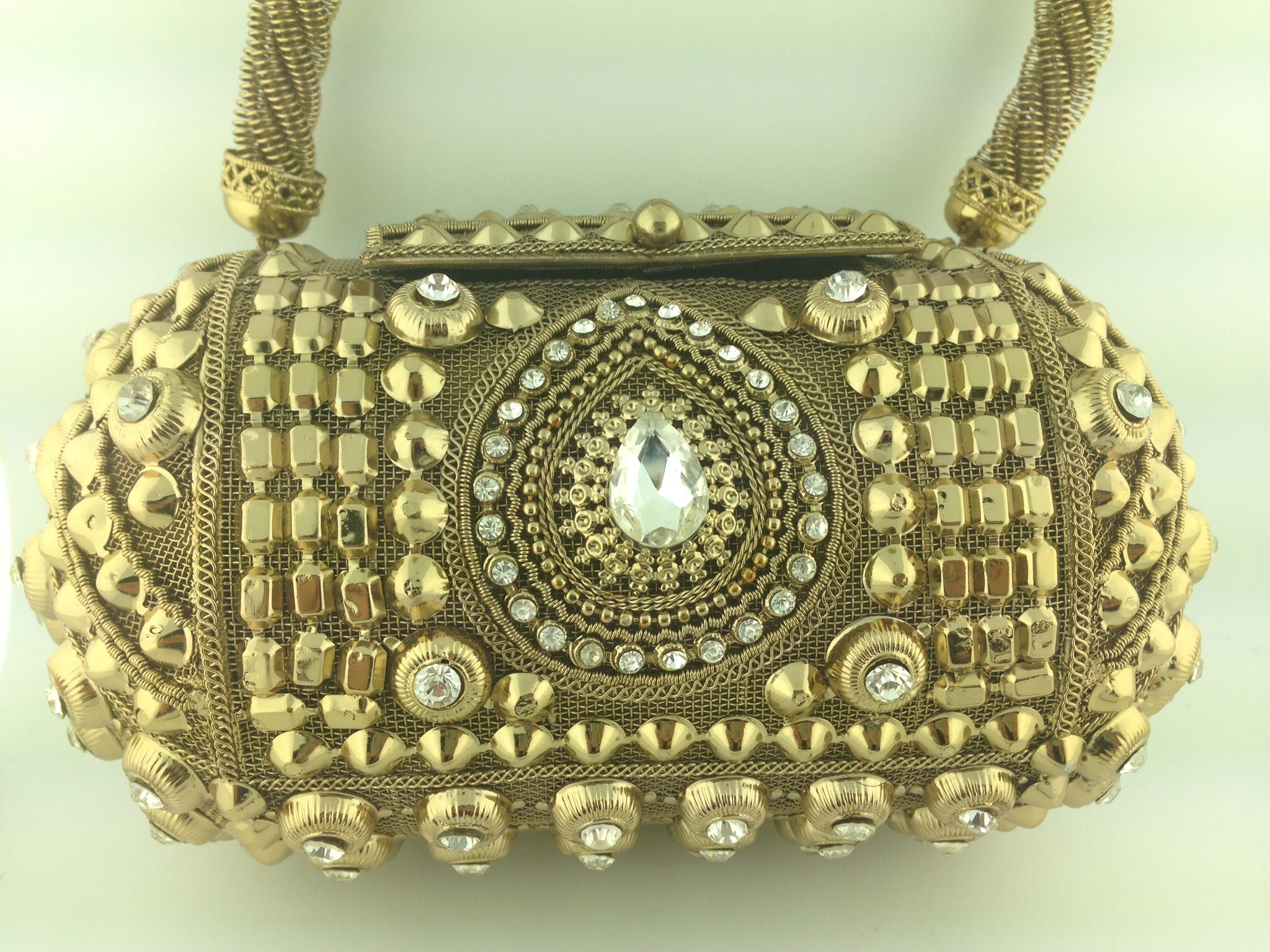 Bridal Two Tone Golden Clutch.
