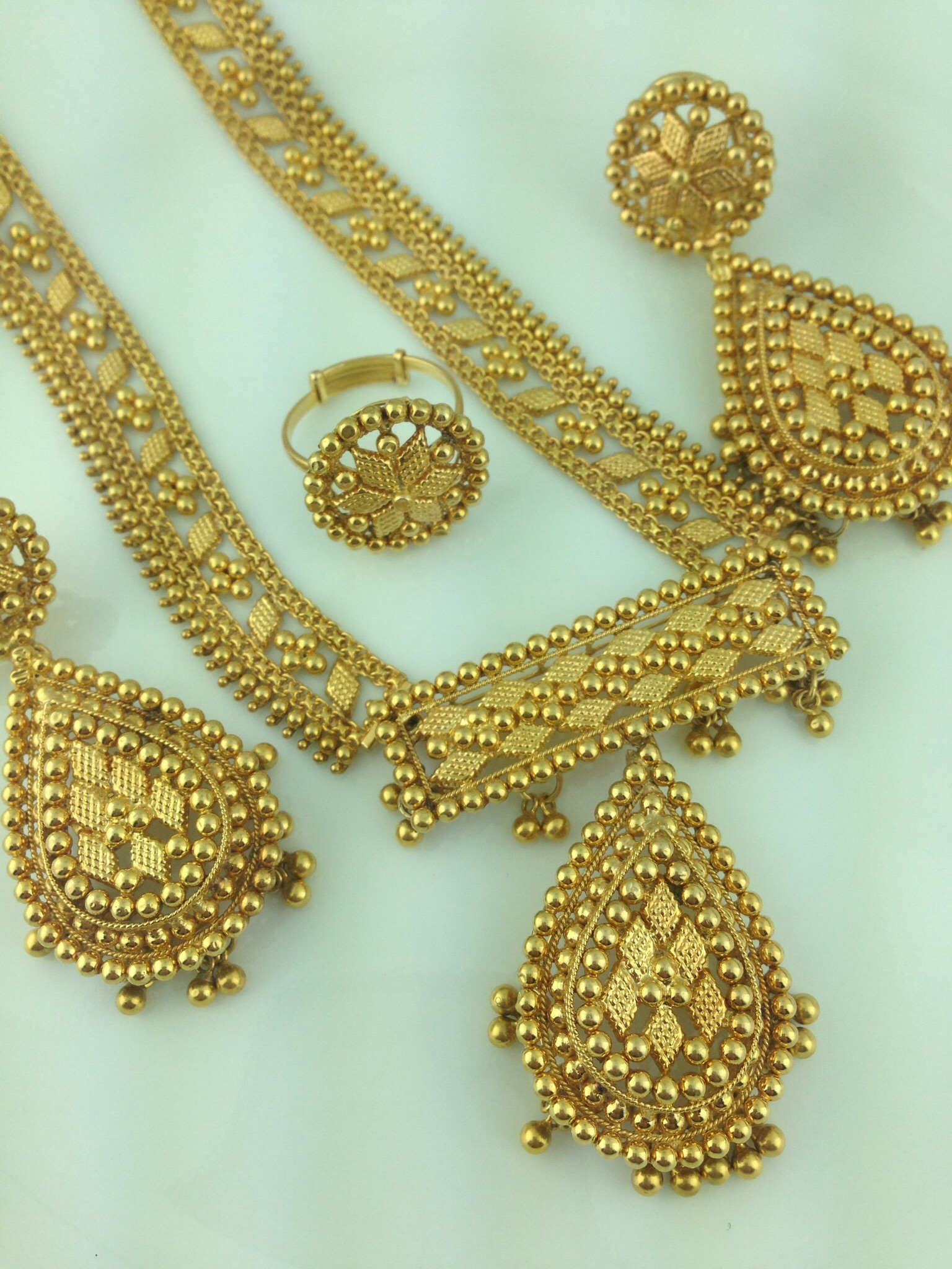 22k Gold Traditional Necklace Set Indian Kundan Islamic And