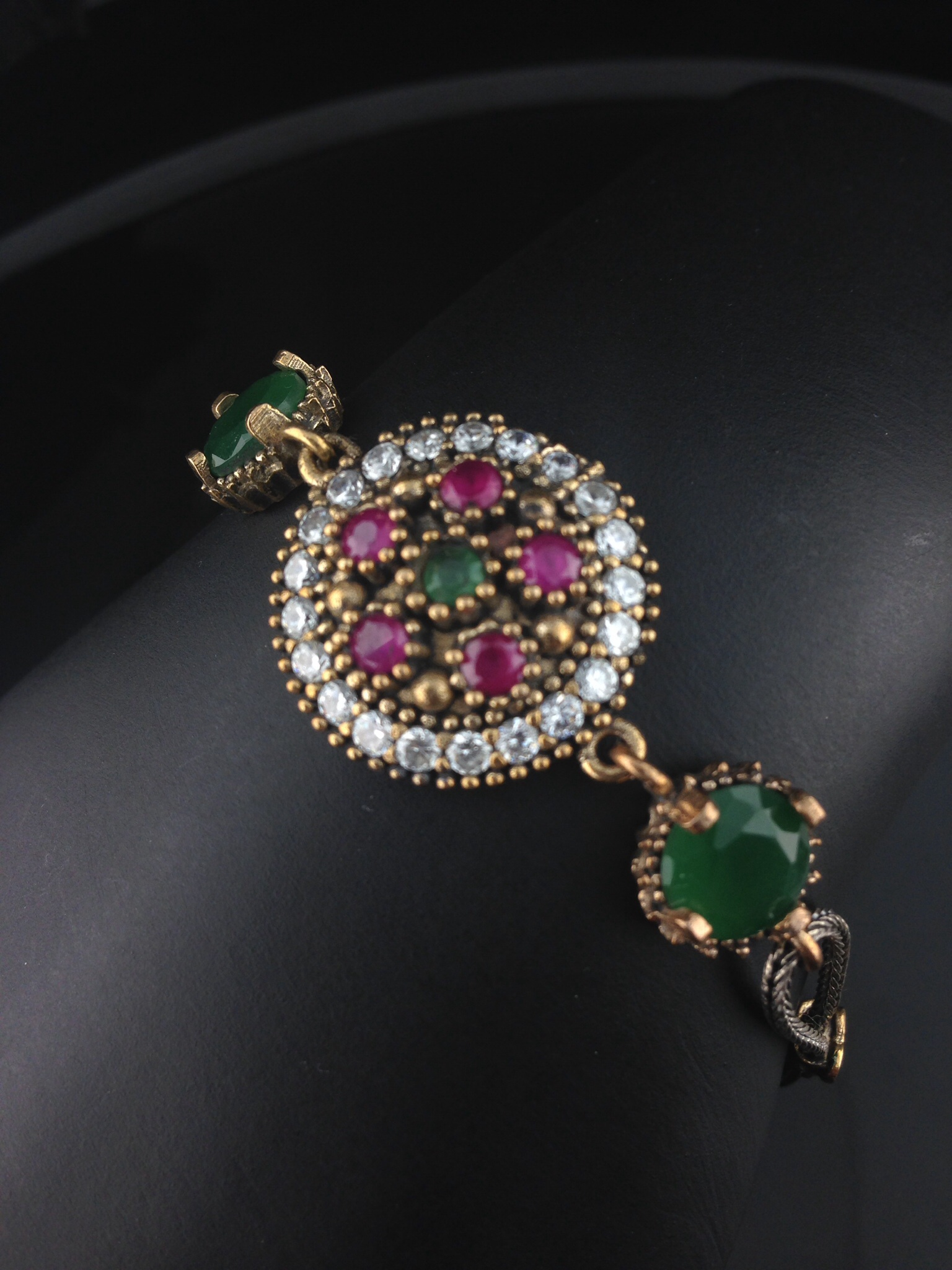Turkish Ruby And Emerald Bracelet