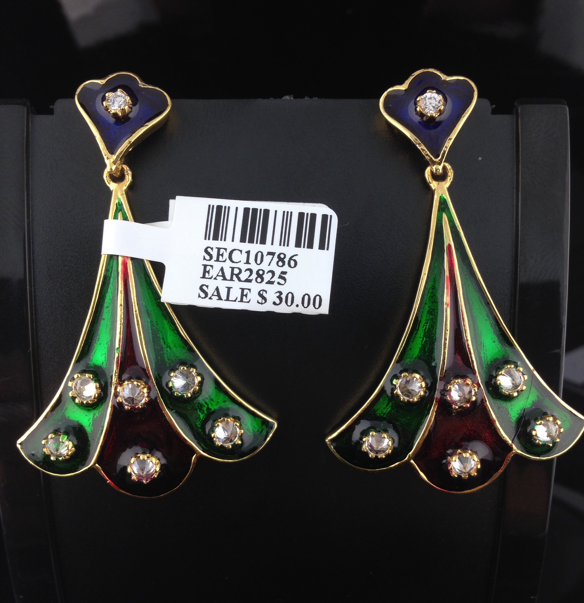 Beautiful earrings with stones