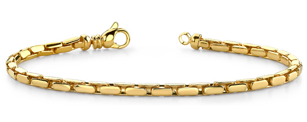 Small Flat Oval Link Metal Bracelet