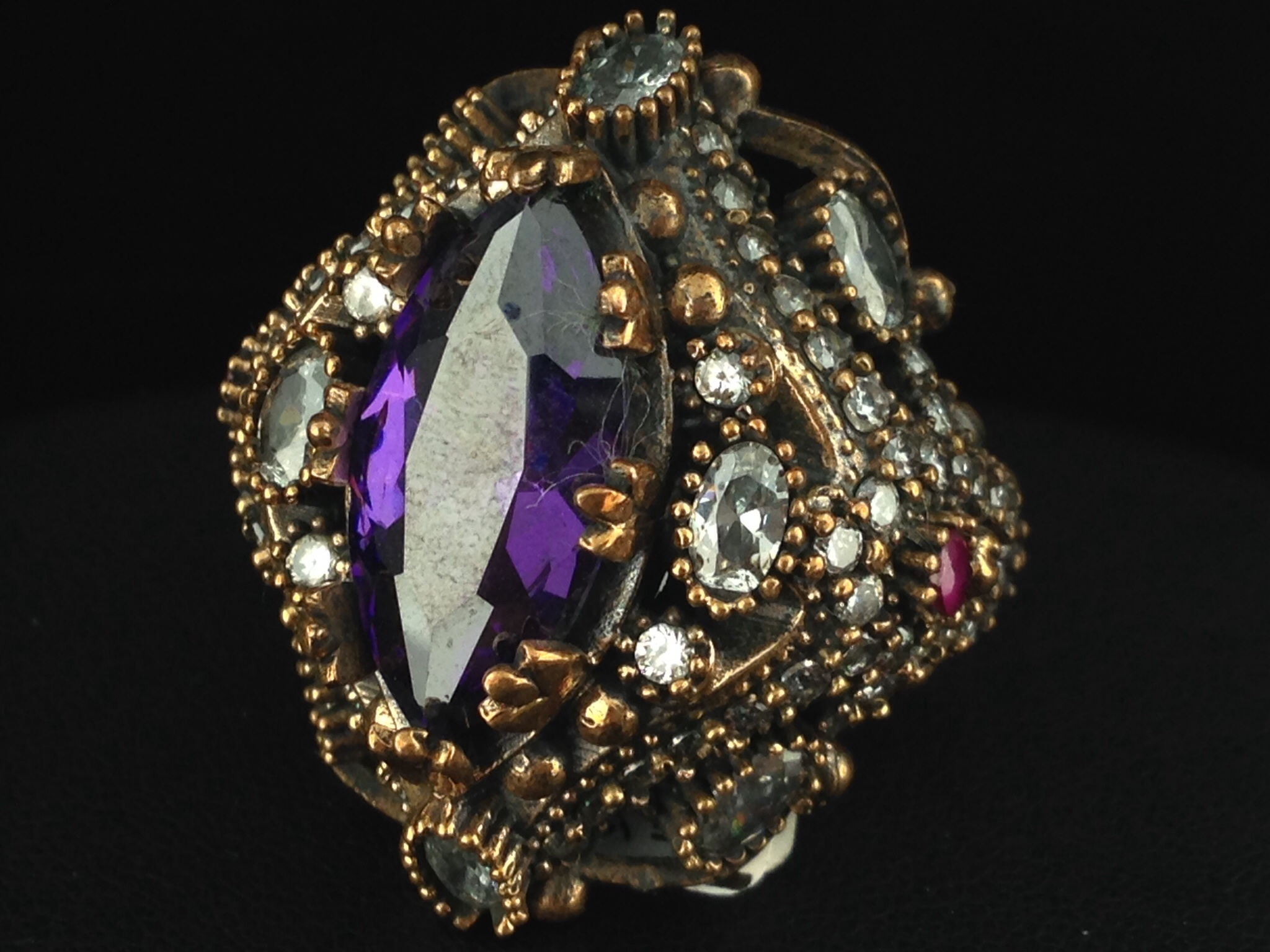 Turkish Ring With Amethyst