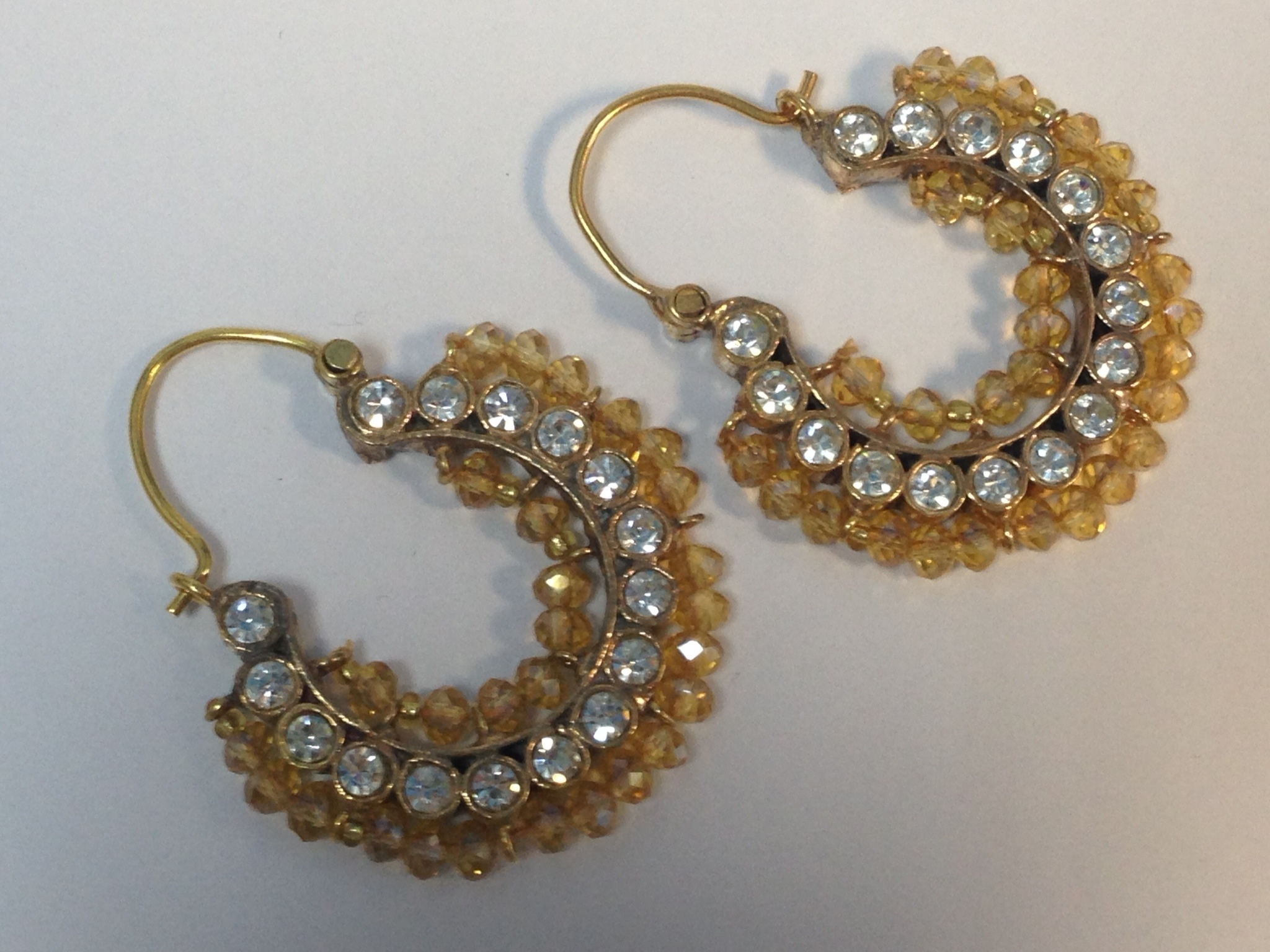 Kundan Chand Bali Exquisite Real gems Earrings
