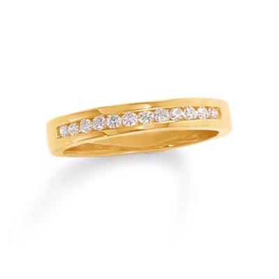 1/4 CT. T.W. Channel Set Diamond Band in 10K Gold