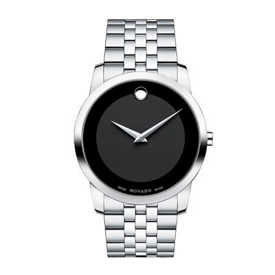 Men\'s Movado Museum® Stainless Steel Watch with Black (Model: 0