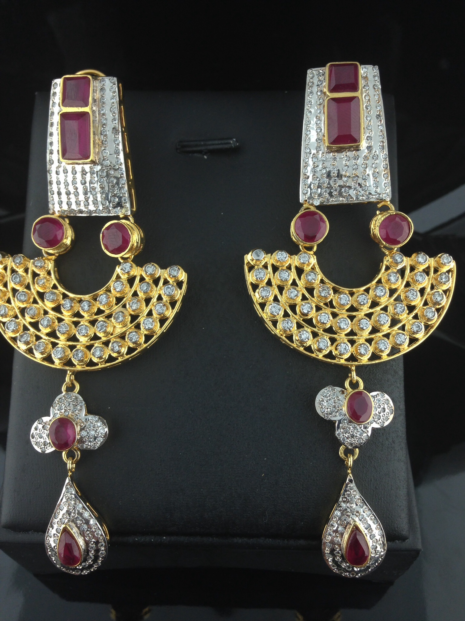 Sterling Sliver Ruby Earrings