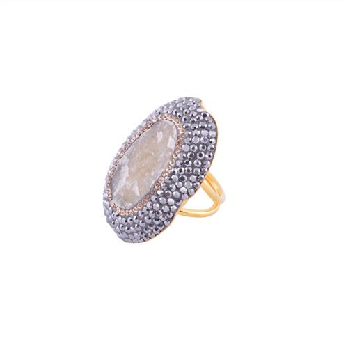 Single Oval Ring Natural Gemstone