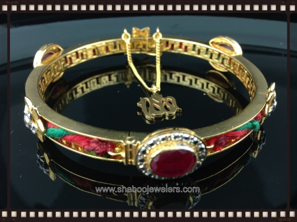 22k Holy Dhaga bangle Custom