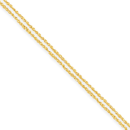 14k Double Strand Rope Chain