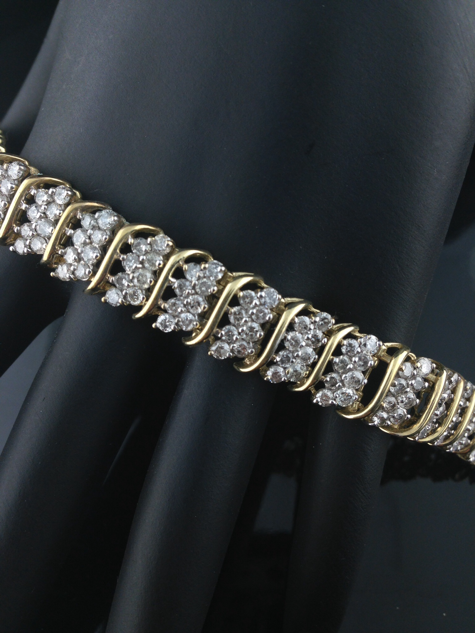 5.0 CT. Diamond Cluster Bracelet