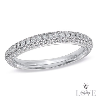 Vera Wang LOVE Collection 1/2 CT. T.W. Diamond Three Row Anniver