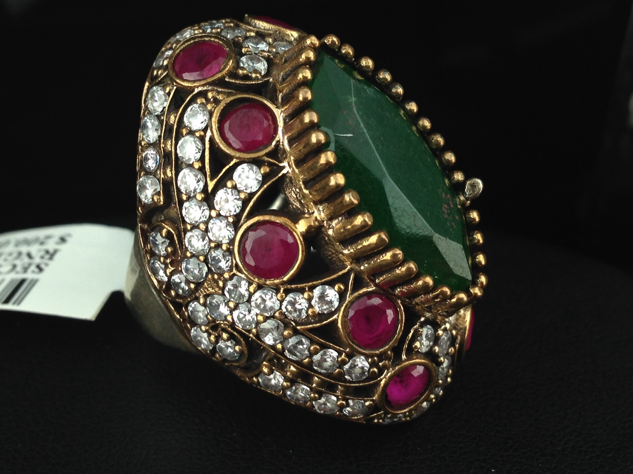 Turkish Ring With Emeralds And Rubies