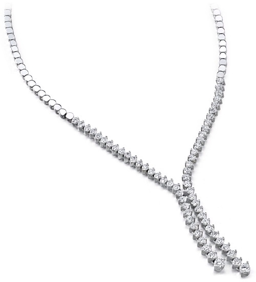 Diamond Boleri Tie Necklace
