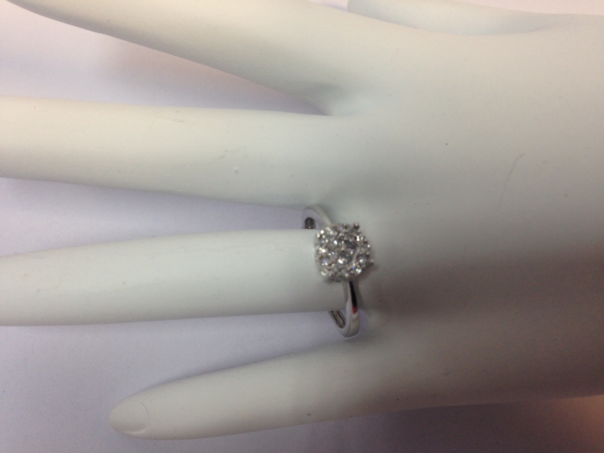 .25 CT. 10K White Gold Diamond Engagement Ring