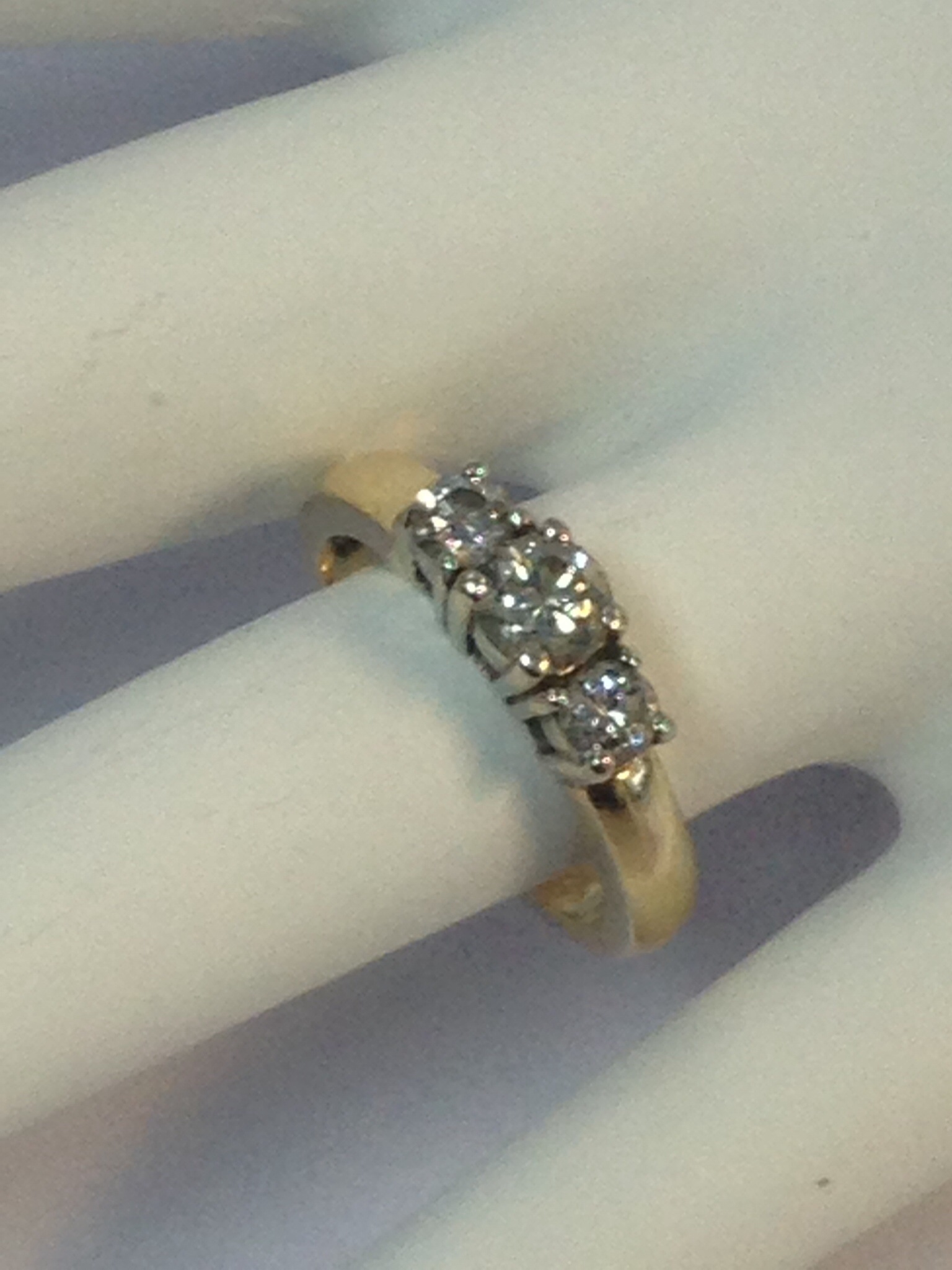 1 C.T. 14K yellow gold engagement ring
