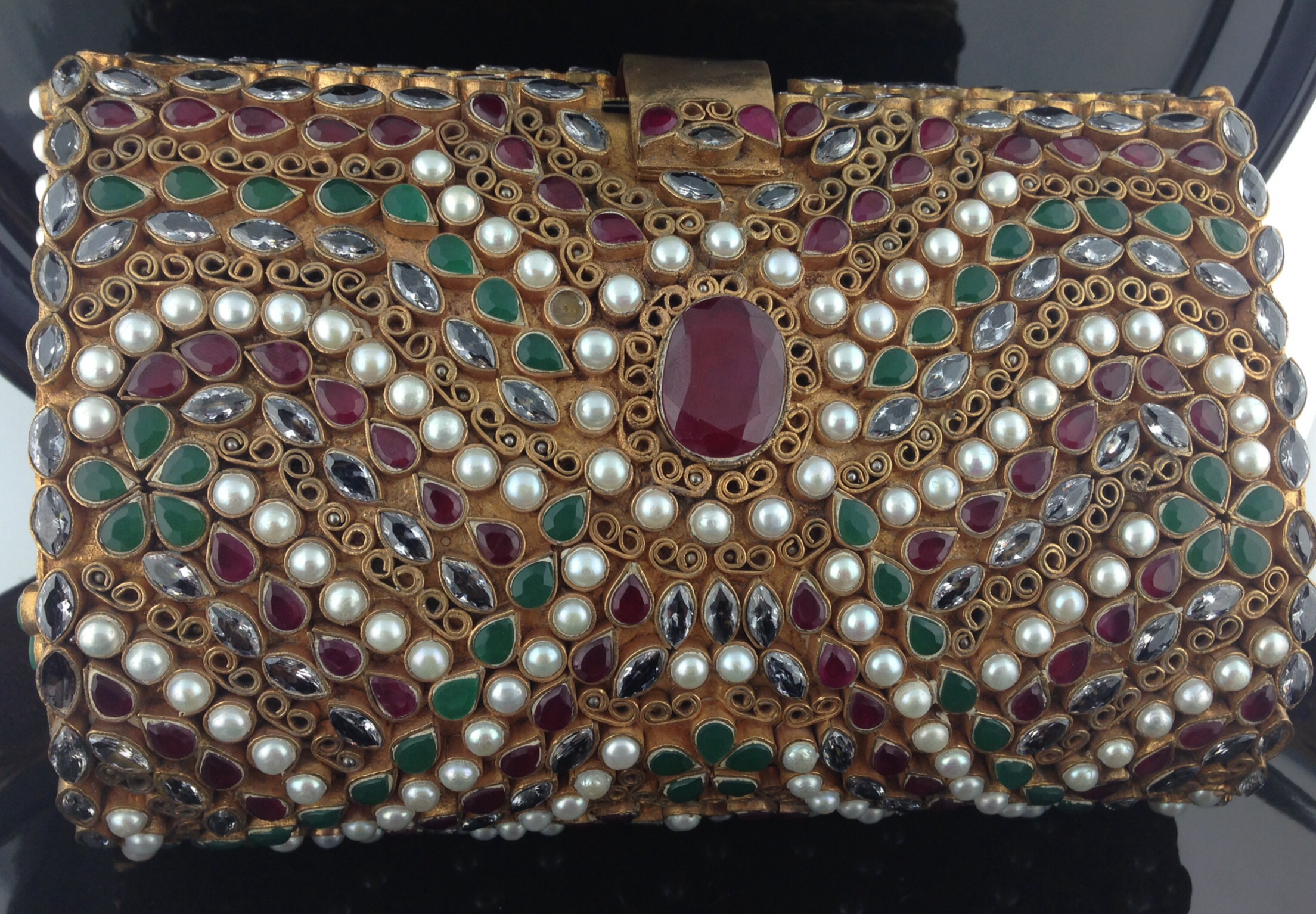 Kundan Multicolored Clutch