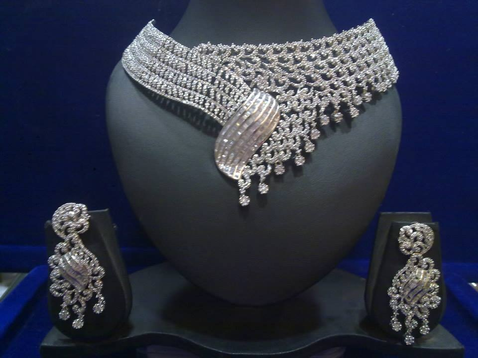 American Diamond Bridal Set