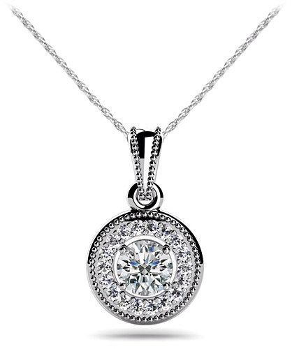 Centre Diamond Circle Necklace