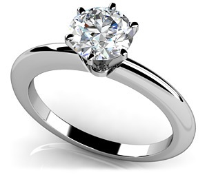 Six Prong Solitaire Ring