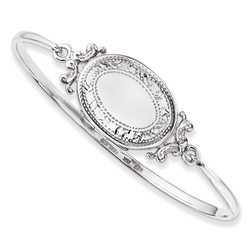 Sterling Silver Locket Bangle