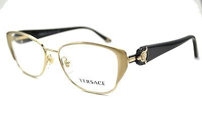 NEW 2013 VERSACE VE 1196 1252 BRUSHED PALE w/ CLEAR LENSES EYEGL