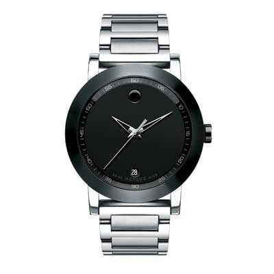 Men\'s Movado Museum® Watch with Black Dial (Model: 606604)