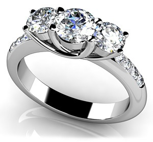 Eleven Stone Diamond Engagement Ring