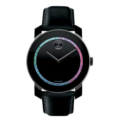 Ladies\' Movado Bold® Multi-Color Crystal Watch with Black Dial