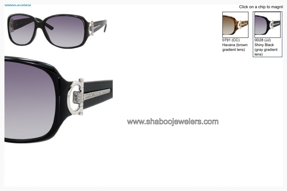 Gucci Women 3168/S 0D28 Shiny Black